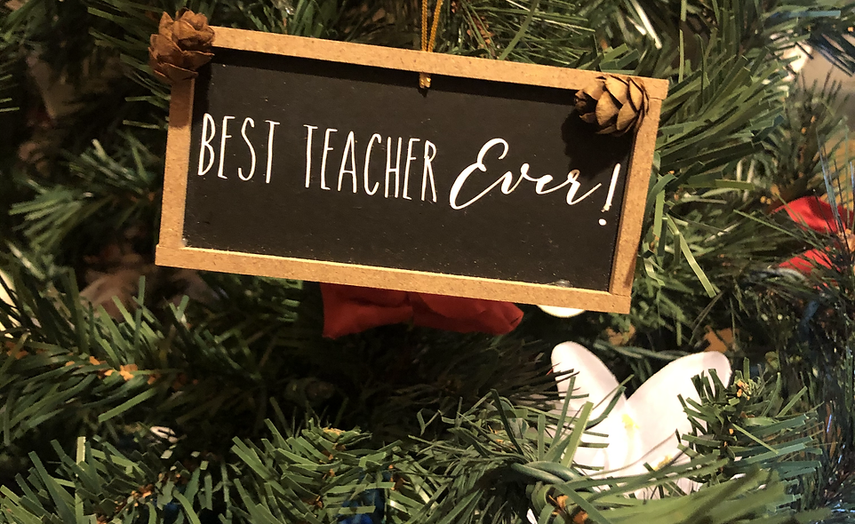 Smidgen Best Teacher Ornament 2