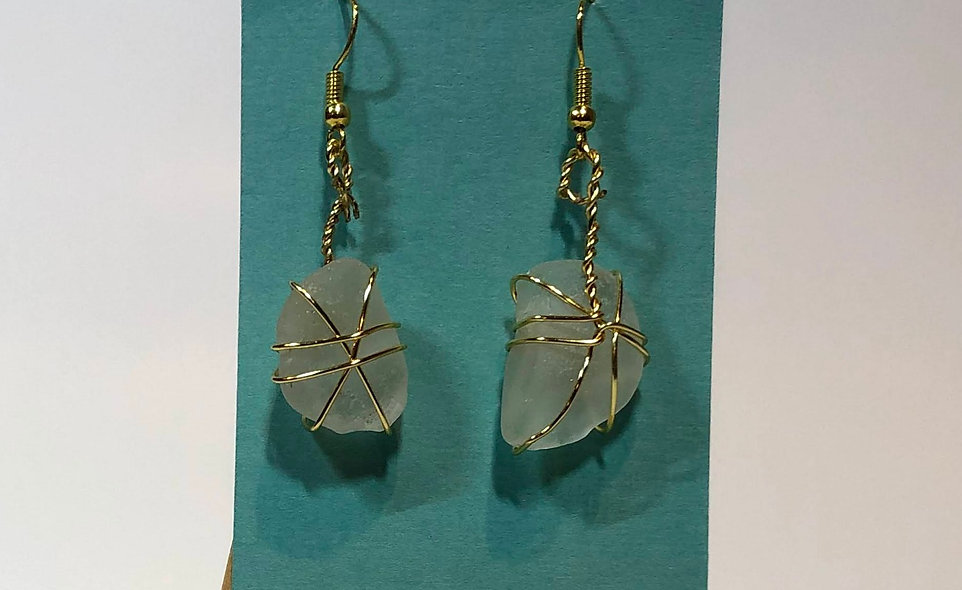 Smidgen Beach Glass Earrings