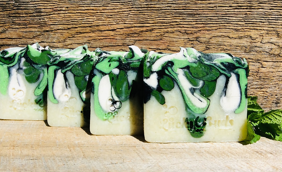 Lucky Suds Rosemary Mint & Activated Charcoal Handmade Soap
