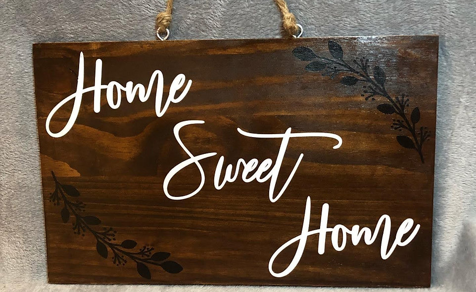 Smidgen Home Sweet Home Sign