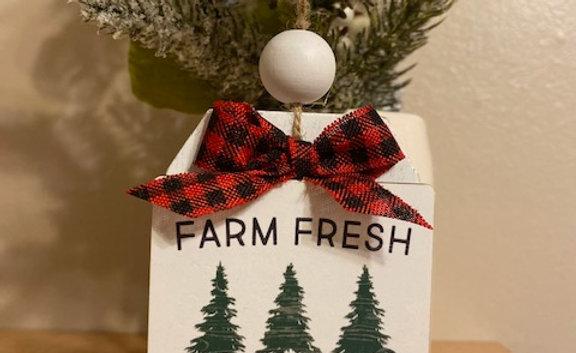 "Clayton Street 2 .5x4"" Tree Gift Tag Ornament"