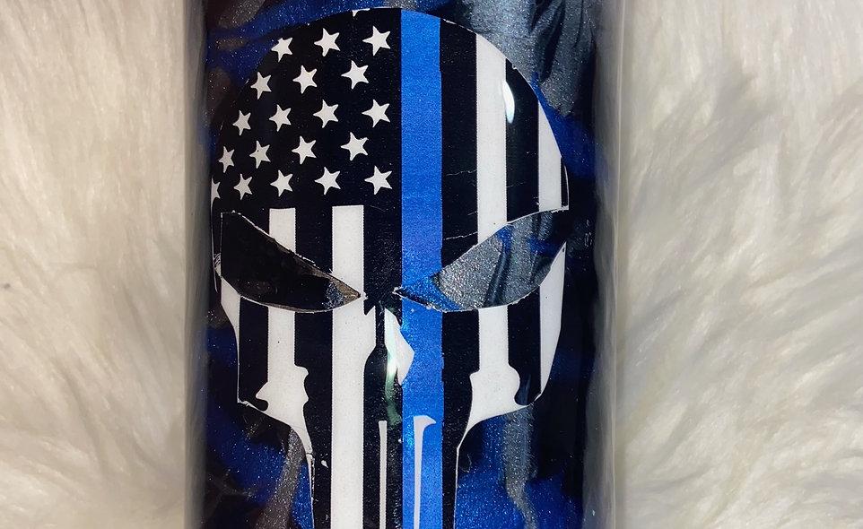 Designs by Dana Punisher Flag 20 oz Tumbler