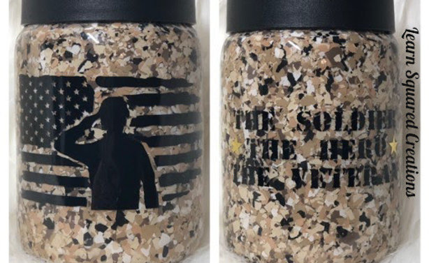 Learn Squared 12 oz Soldier Can Koozie