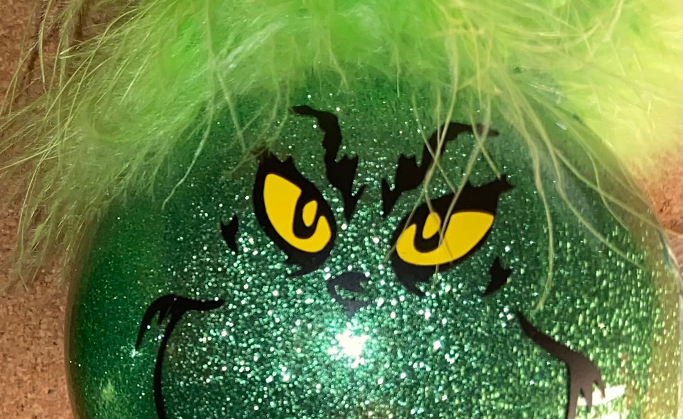 "Designs by Dana 4"" Grinch Ornament"