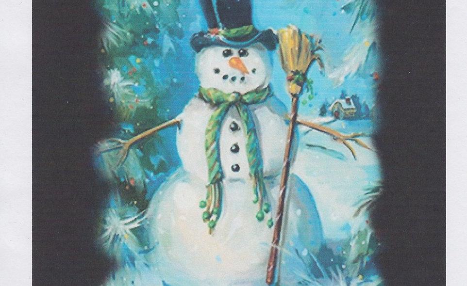 DAV Snowman and Broom T-Shirt