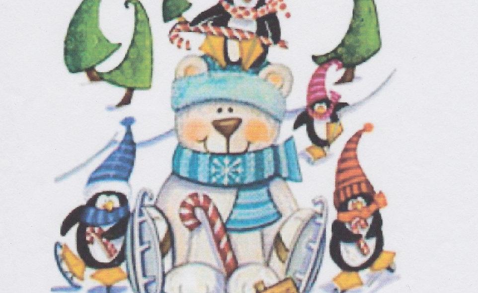 DAV Penguins and Polar Bear T-Shirt