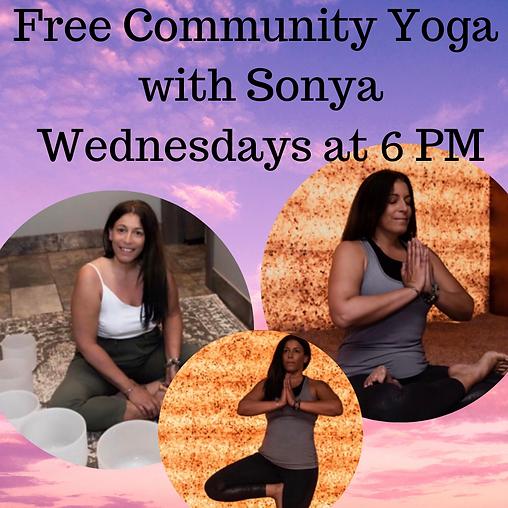 Free Community Yoga with Sonya Wednesday
