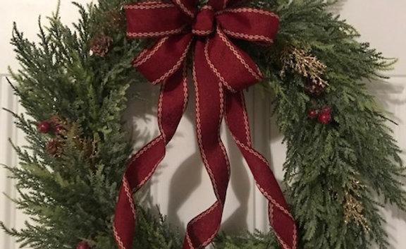 """Clayton Street 20"""" Juniper Wreath"""