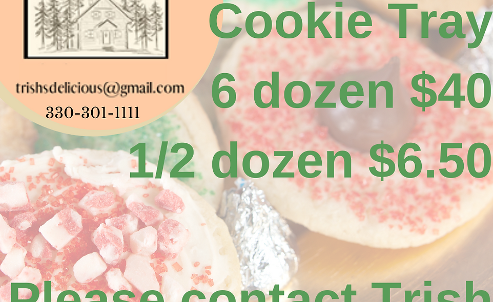 Trish's Delicious Gluten Free Cookie Tray - 6 dozen