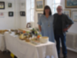 Roz and Mick Bensley at the Exhibition private view