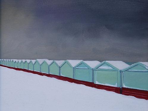 Beach Huts in the Snow III