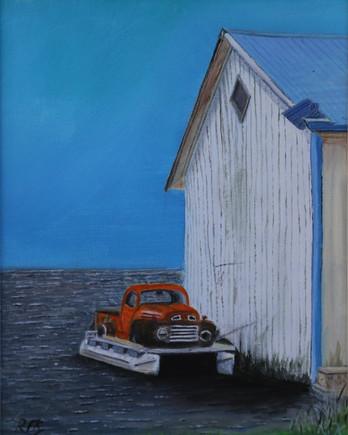 1949 Ford Mercury Truck/Boat, Clear Lake, Ontario, Canada