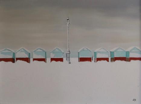 Beach Huts in the Snow I