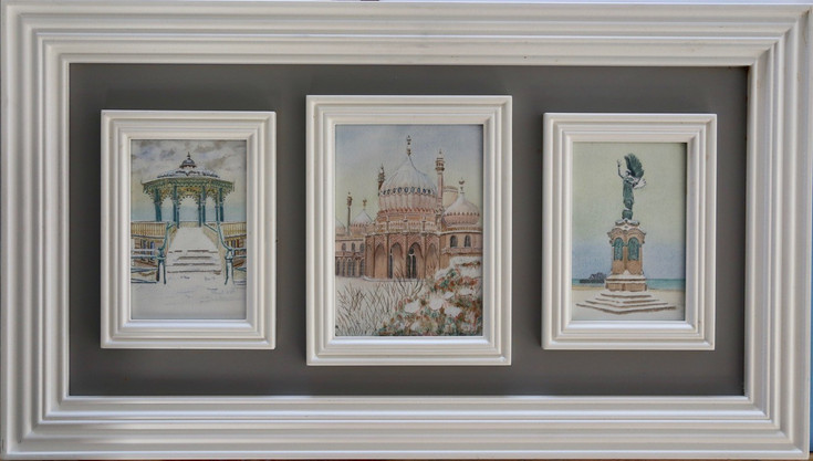 Triptych of Brighton in the Snow