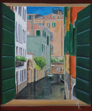 View though a Venice Window