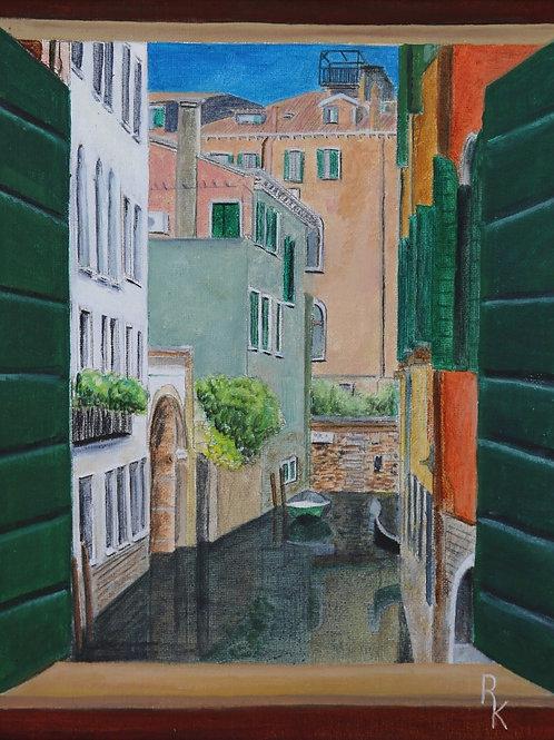 Venice through a window