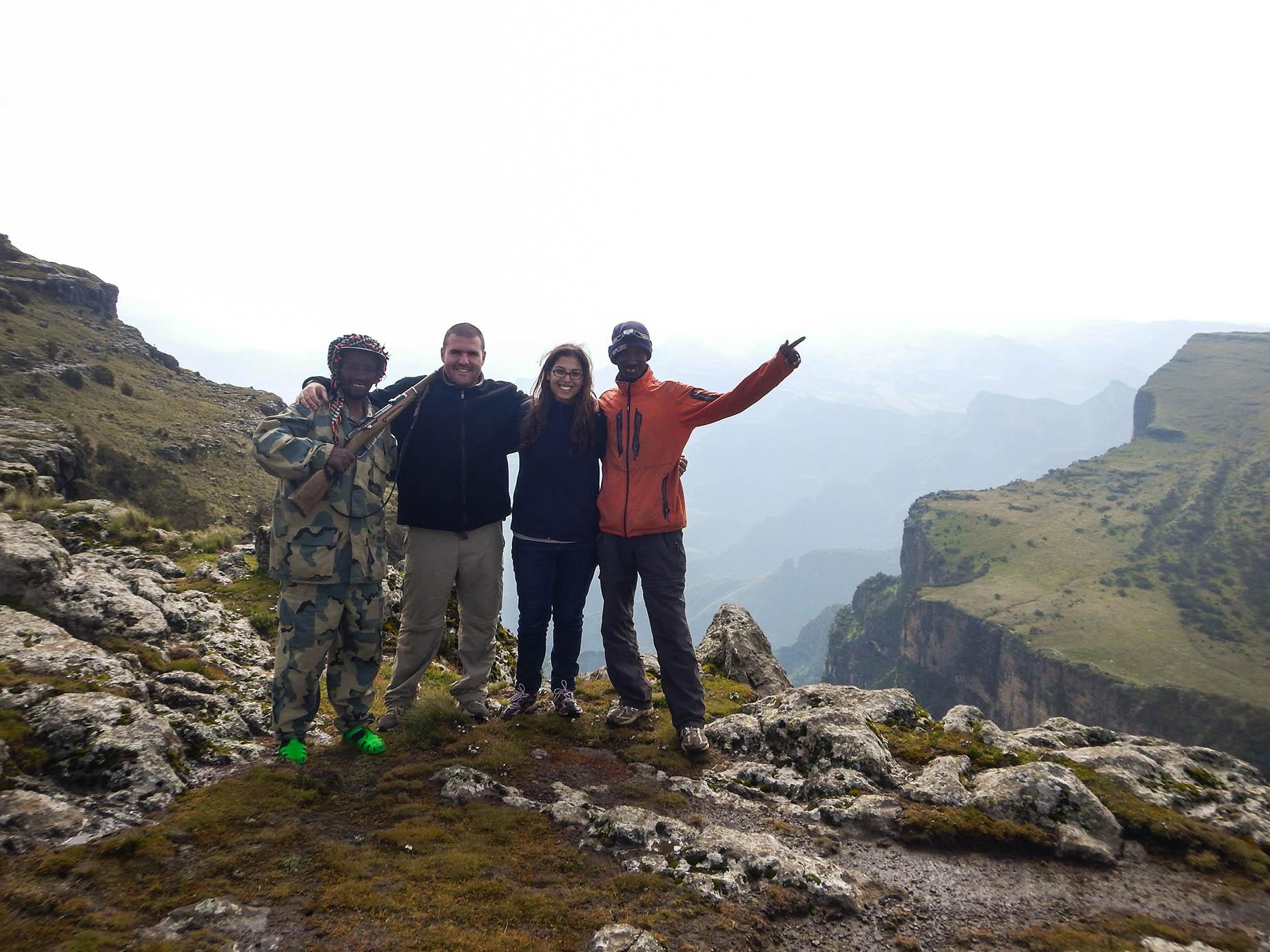באחת הפסגות בהרי סימיאן