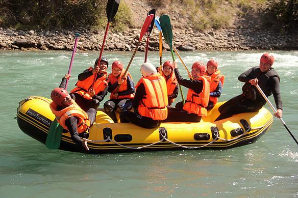 רפטינג בנהר הצ'ון קאמין