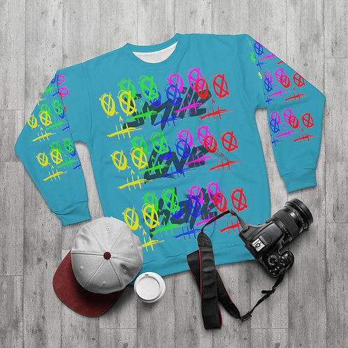 Smile, Love, Hate AOP Unisex Sweatshirt