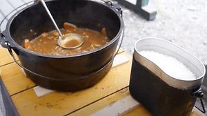 ダッチオーブンカレーと飯盒ご飯