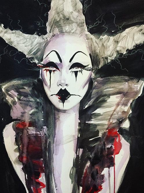 'Pitch Black' Original Artwork, Acrylic Painting
