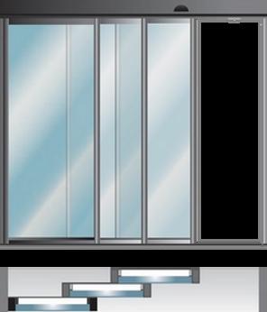 TRONCO ซีรี่ส์ TS ประตูเลื่อนอัตโนมัติแบบ TELESCOPIC