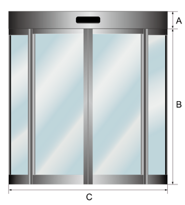 TRONCO US Series Automatic Curved Sliding Door