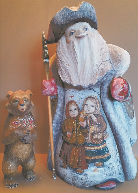 one-of-a-kind Russian Hand Painted Santa