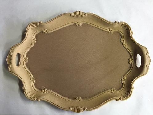 SALE Scalloped tray with handles.
