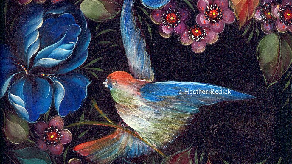 22 Bird with Irises