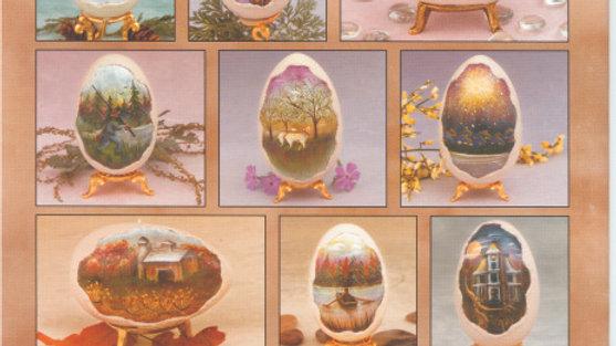 Elegant Eggs - tiny landscapes