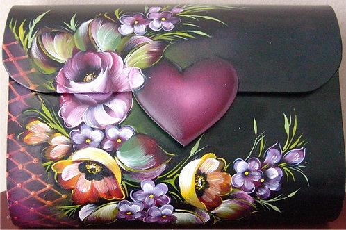 154 Floral metal purse
