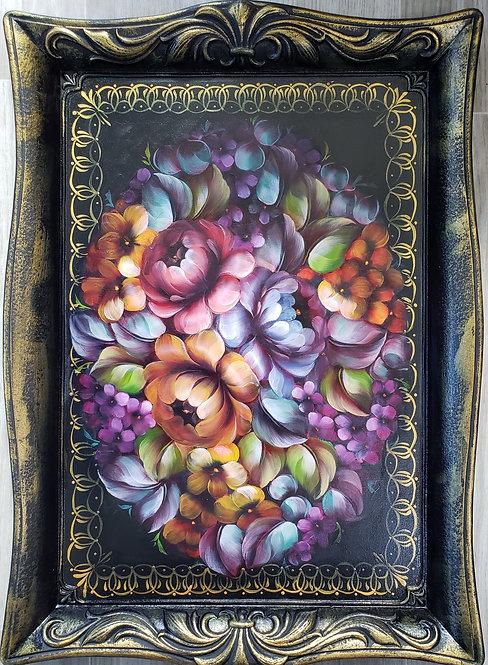 Large Rectangular Floral Tray