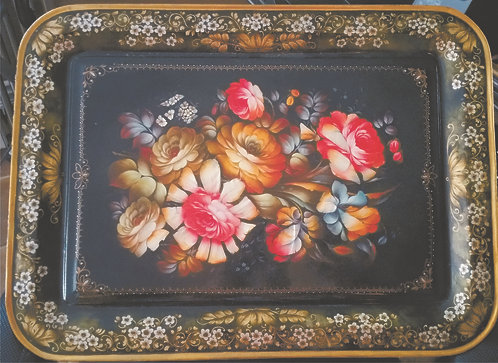 Original Hand Painted Tray - Mother of Peal