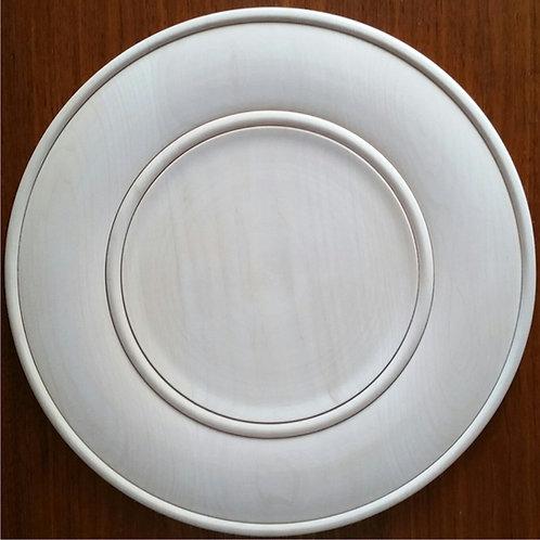 "SALE 16"" round double beaded tray"