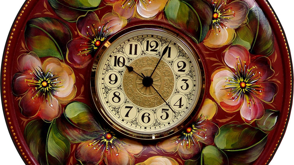 Zoom Acrylic Buttercup Clock