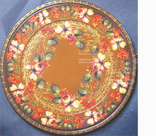 53 Floral Trim Bowl & Tray, Eng. & French