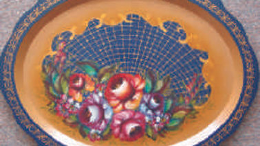 107 Roses on blue background