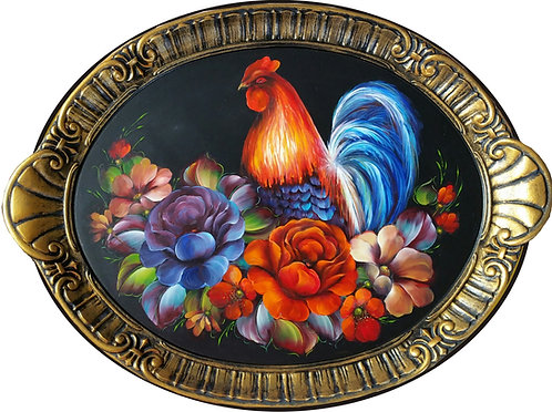 170 Rooster and Roses