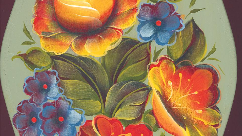 120 Easy Floral on vase