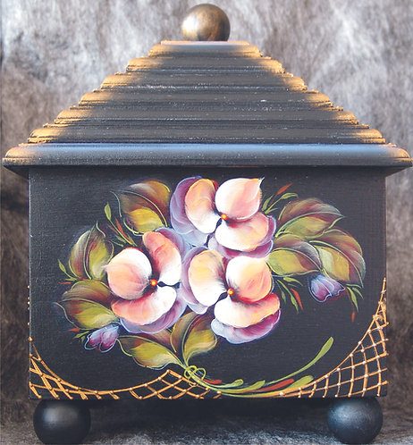 Wedding cake box - pansies