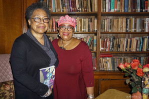 Celebrating Women's History Month and the 10th Anniversary trade paperback edition of Daughters of the Stone with my agent, Marie Dutton Brown, at the Andrew Freedman Home.