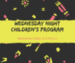 Wednesday Night Children's Ministry - jp