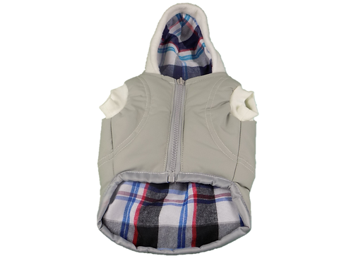 Gray Dog Factor Sensation Dog Vest Pet Apparel Waterproof Windproof Reversible