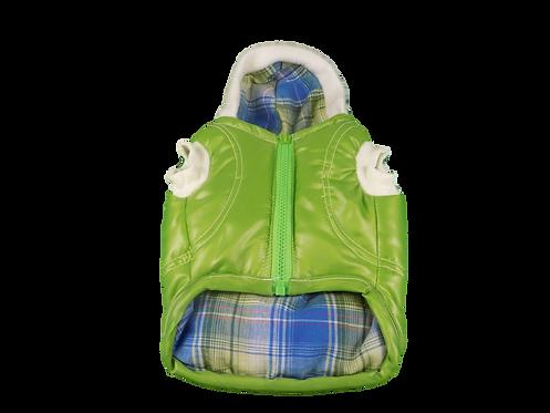 Green Dog Factor Sensation Dog Vest Pet Apparel Waterproof Windproof Reve