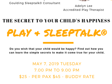 The Secret To Your Child's Happiness: Play & Sleeptalk