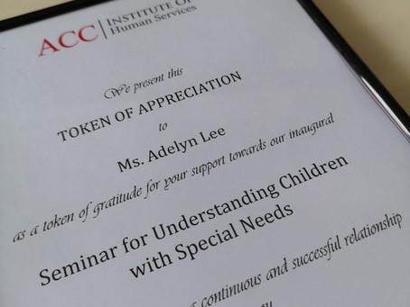 Panel Speaker - Seminar for Understanding Children with Special Needs with ACC