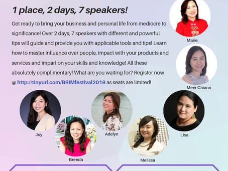 1 Place 2 Days 7 Speakers - BRIM Festival 2019