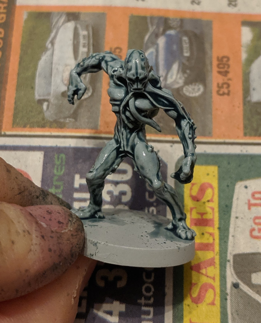 Zombicide Invader - Worker Xeno - Gryph-Charger Grey