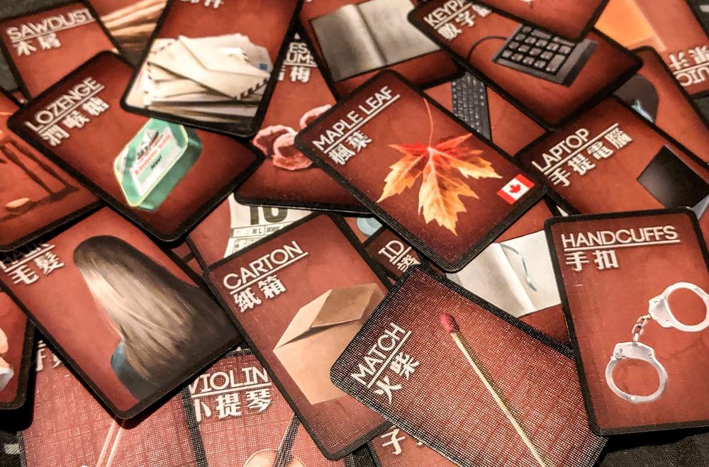 Deception Murder in Hong Kong Clue Cards